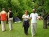 Vakvezető játék a a 2008-as nyári táborban (Előtérben Lívia és Laci, háttérben Barbara és Noémi)