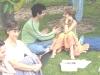 Erika, Dani és Hava párosgyakorlat közben a 2008-as nyári táborban